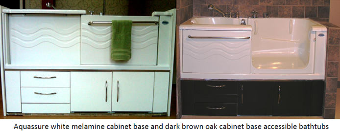 White and Drk brown cabinet base pic