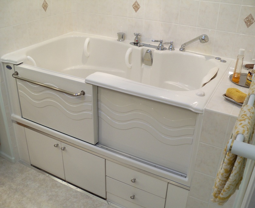 This left hand Safety Plus tub replaced a 6 foot Slide-in Bath tub ...