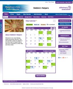 screen shot of Helping Hands software