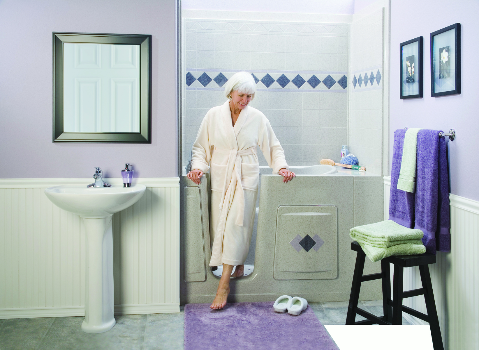 Products aquassure Small bathroom remodel for elderly
